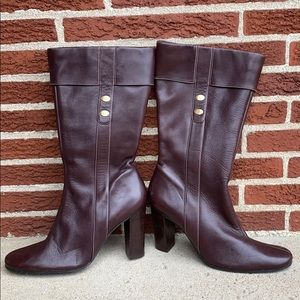 Anne Klein Heeled Leather Boots